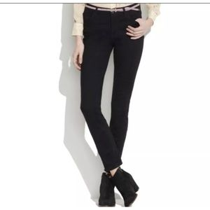 Madewell Black Fine Corduroy Pants Skinny SZ 26